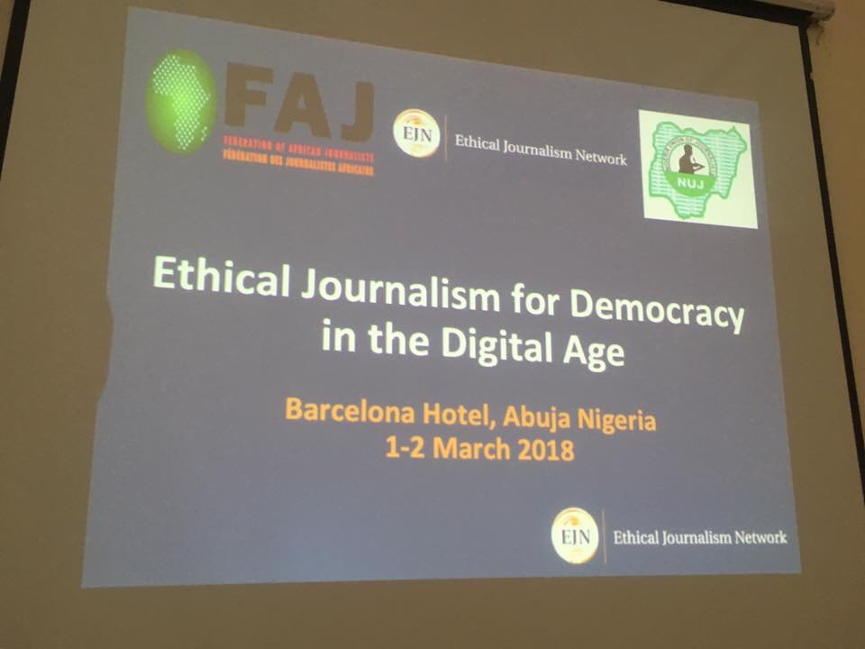 Journalists in Central and West Africa call on media to address hate speech and reaffirm ethical standards